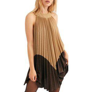 NWT FREE PEOPLE Pleated Love Mini Dress #AJ5